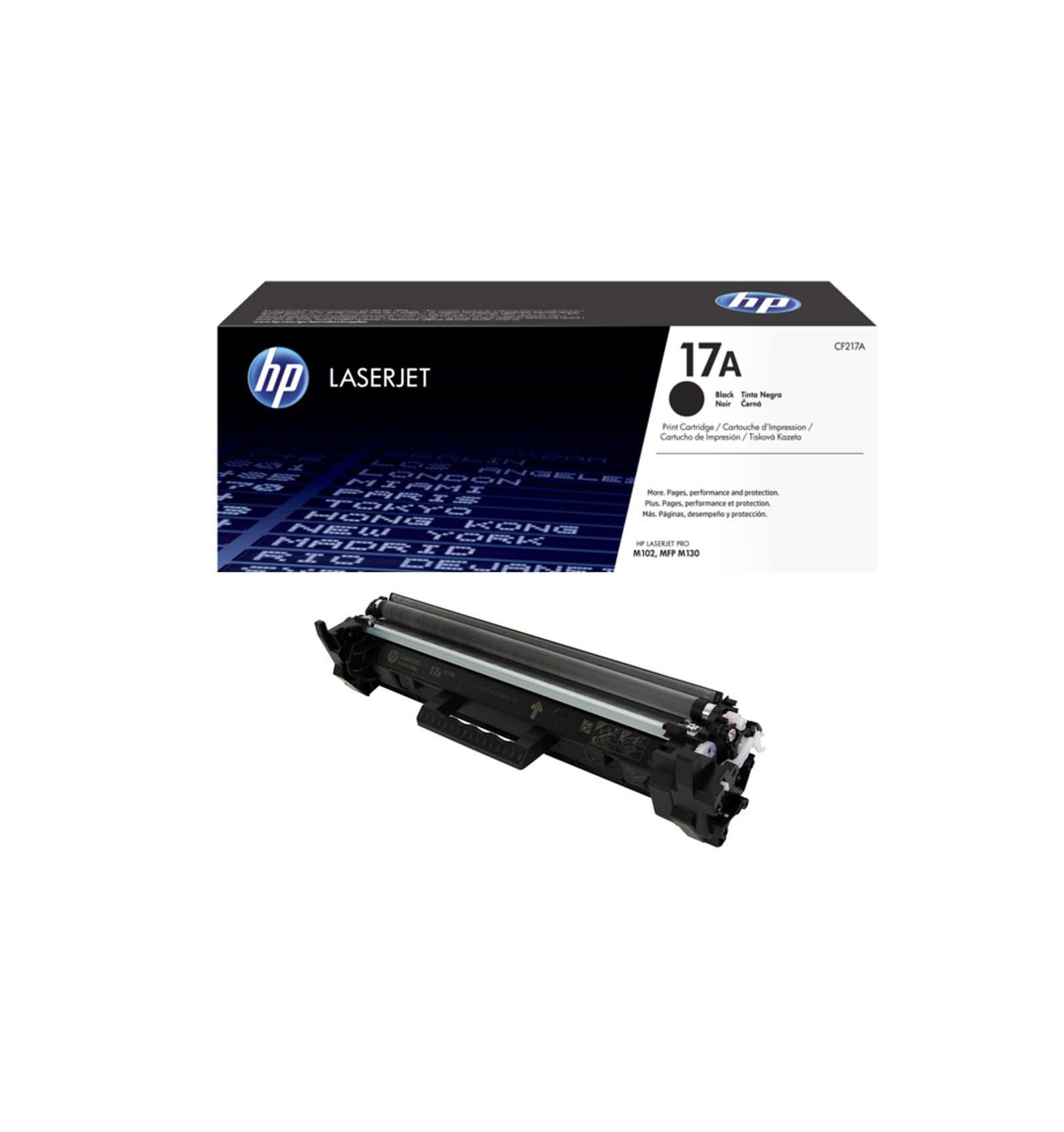 Заправка картриджа HP CF217A (17A) для HP LaserJet M102/M130