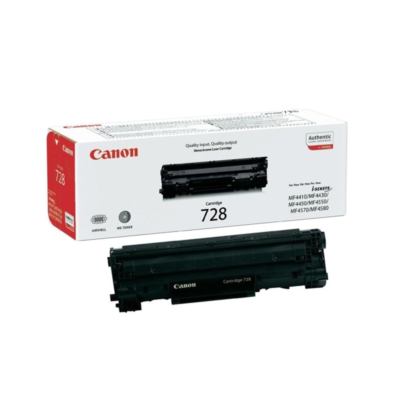 Заправка тонером картриджа Canon 728 для MF4410/MF4430/MF4450/MF4550/MF4570/MF4580