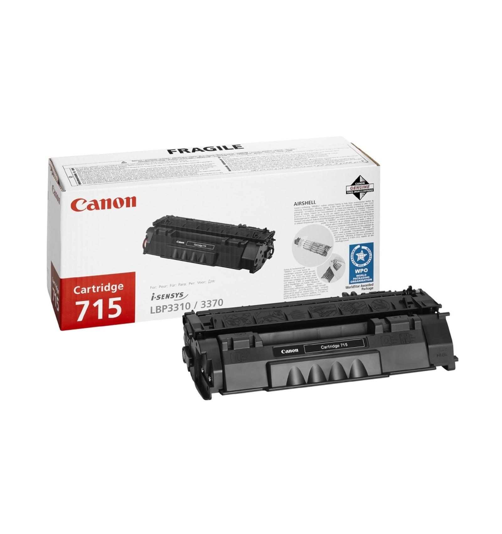 Заправка тонером картриджа Canon 715 для LBP-3310/3370
