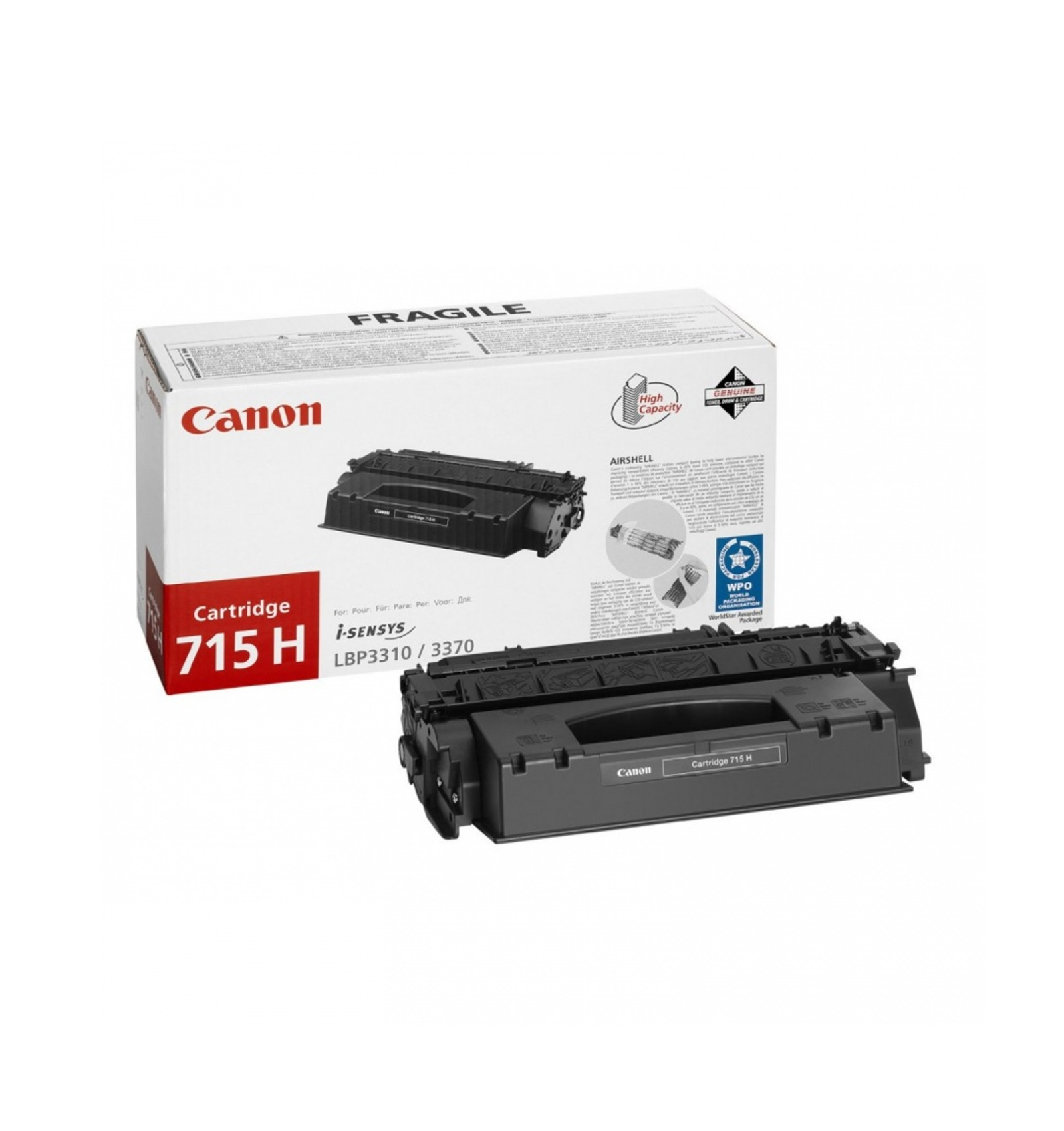 Заправка тонером картриджа Сanon 715h Canon LBP 3310, LBP 3370